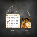 Preserve a special anniversary, birthday, wedding, or even first date, with a personalized calendar keychain. Our calendar keychains are crafted just for you. They are perfect gifts for your partner or even yourself, to often remind you of that special day. Buy Anniversary Key Chains Online in India with Custom Photo Printing | Zestpics