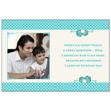 Make a unique Father's Day card in just minutes. Customise your greeting card with his name, add a funny picture, and create a collage of your favourite photos.