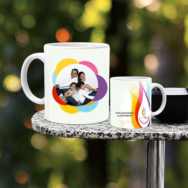 Buy & Send Personalized Diwali Diya Mug online in India at Zestpics