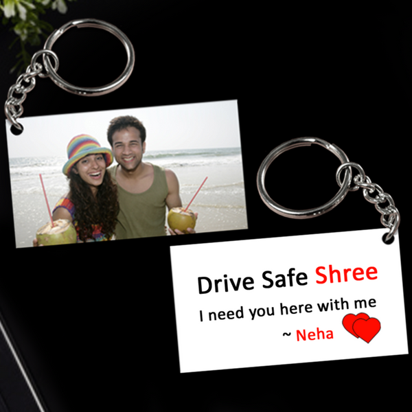 Buy & Send Personalized Drive Safe Keychain online in India | Zestpics