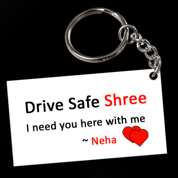 ♥DRIVE SAFE, I NEED YOU HERE WITH ME♥ Trendy, simple and handy keychain. This keychain will make an elegant and sentimental gift for your loved ones and last for a lifetime. Remind them of your love at least once a day. Tell them to drive safe and be careful on the road. Customised Drive Safe Keychains for Boy Friend, Husband.