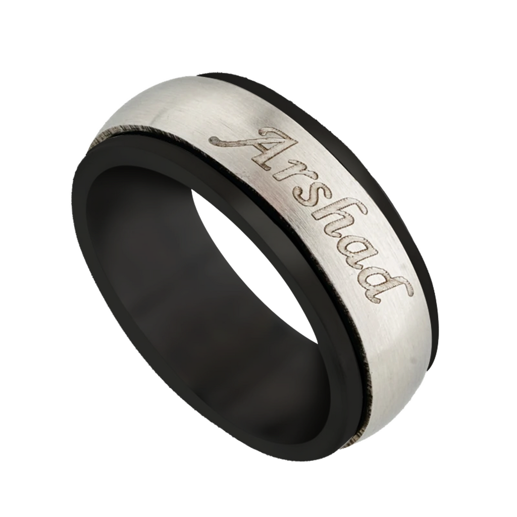 Name Rings Silver | Name Rings for Men Online at Zestpics