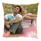 Print photo pillow cover with your photos, images, pictures, themes, designs and text. Create custom photo cushion cover online and send to loved ones in India. High quality photo pillow cover.