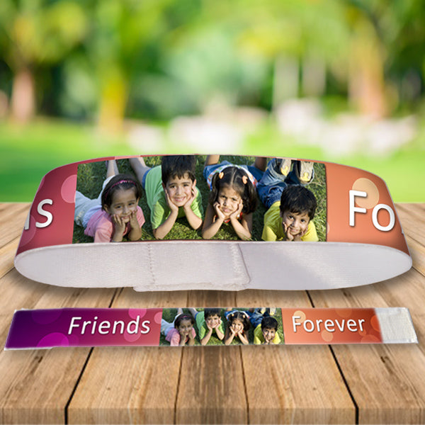 Buy Personalized Photo Friendship Band Online in India, Friendship Day Gifts