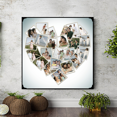 heart collage photo frame, heart collage, valentine day photo frame, photo frame