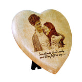 Valentine's Day Gifts, Personalized Engraved Photo on wood in Heart Shape - Zestpics, India