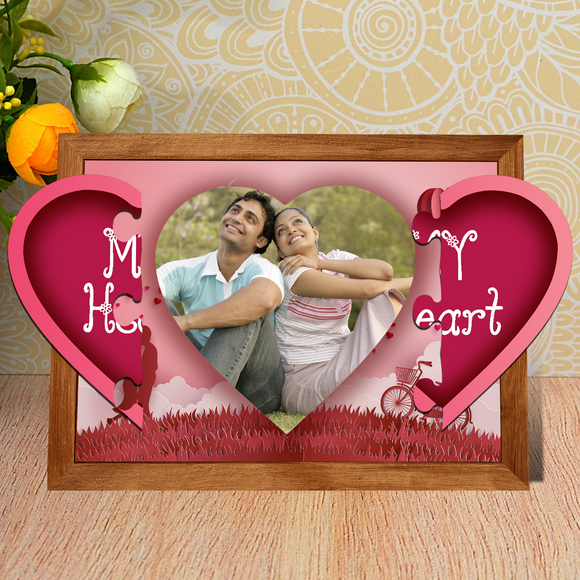 Heart Puzzle Magnetic Frame | Picture Puzzle | Valentines Day Gifts | Zestpics