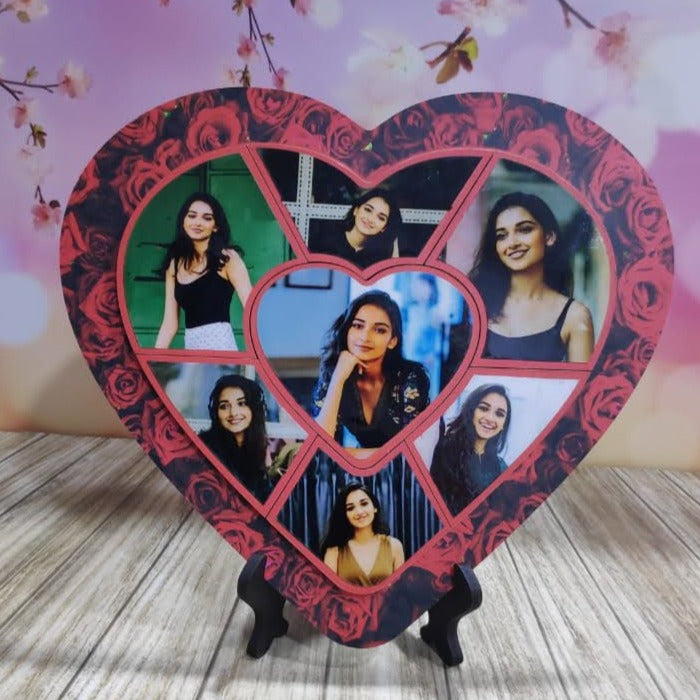 Send Best Valentine Gifts Online | Heart Collage Puzzle Magnetic Frame