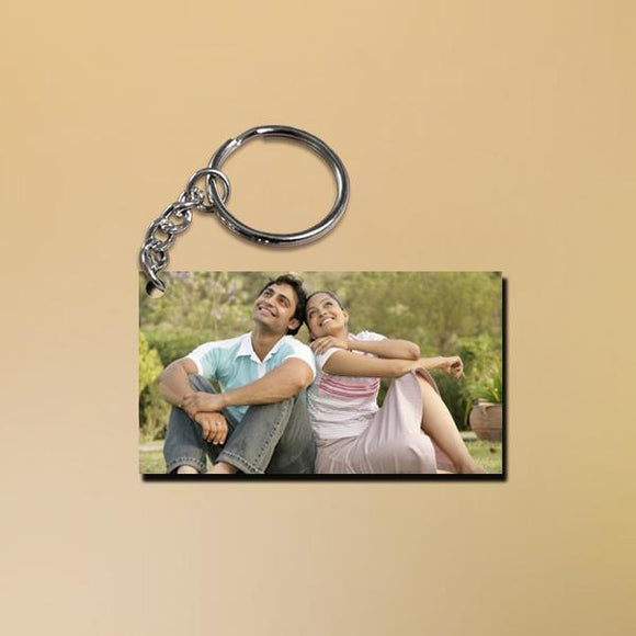 Rectangle Keychain, Personalized Custom Keyrings, Photo Printed Key Ring