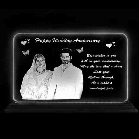 Your photo and message will be engraved on transparent acrylic that looks like a glass. Perfect for Gifting Purpose. Best Collection of Engraved Gifts and Bests Gifts in India