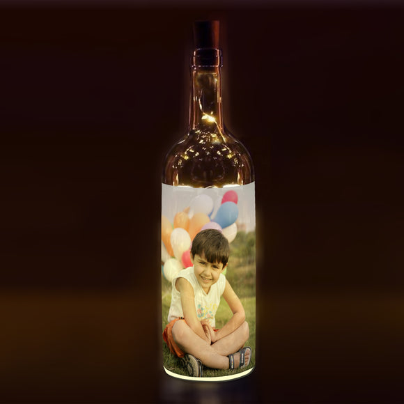 Buy Personalised Led Bottle Lamp online in India | Zestpics