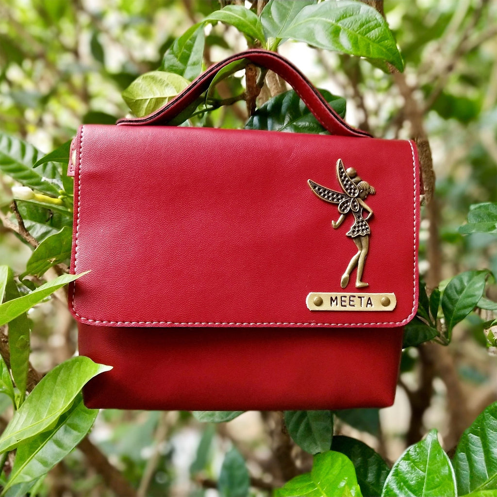 Buy Personalised Sling Leather Bag for Women online in India| Zestpics