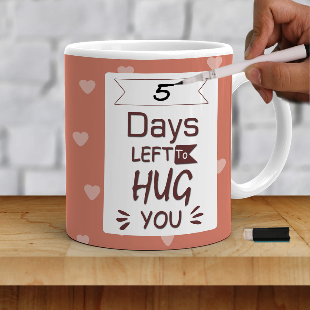Long Distance Relationship Gifts | Days Left To Hug You Mug | Zestpics