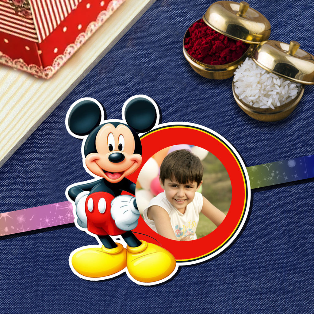 Mickey Mouse Rakhi, Kids Rakhi, Photo Rakhi Online in India | Zestpics