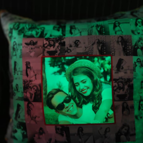 Multi Color LED Mosaic Pillow
