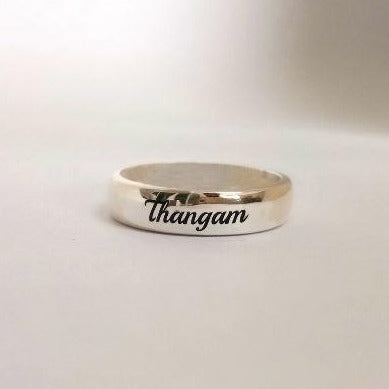 Name Engraved Silver Ring, Buy & Send Personalized Name Rings online in India | Zestpics