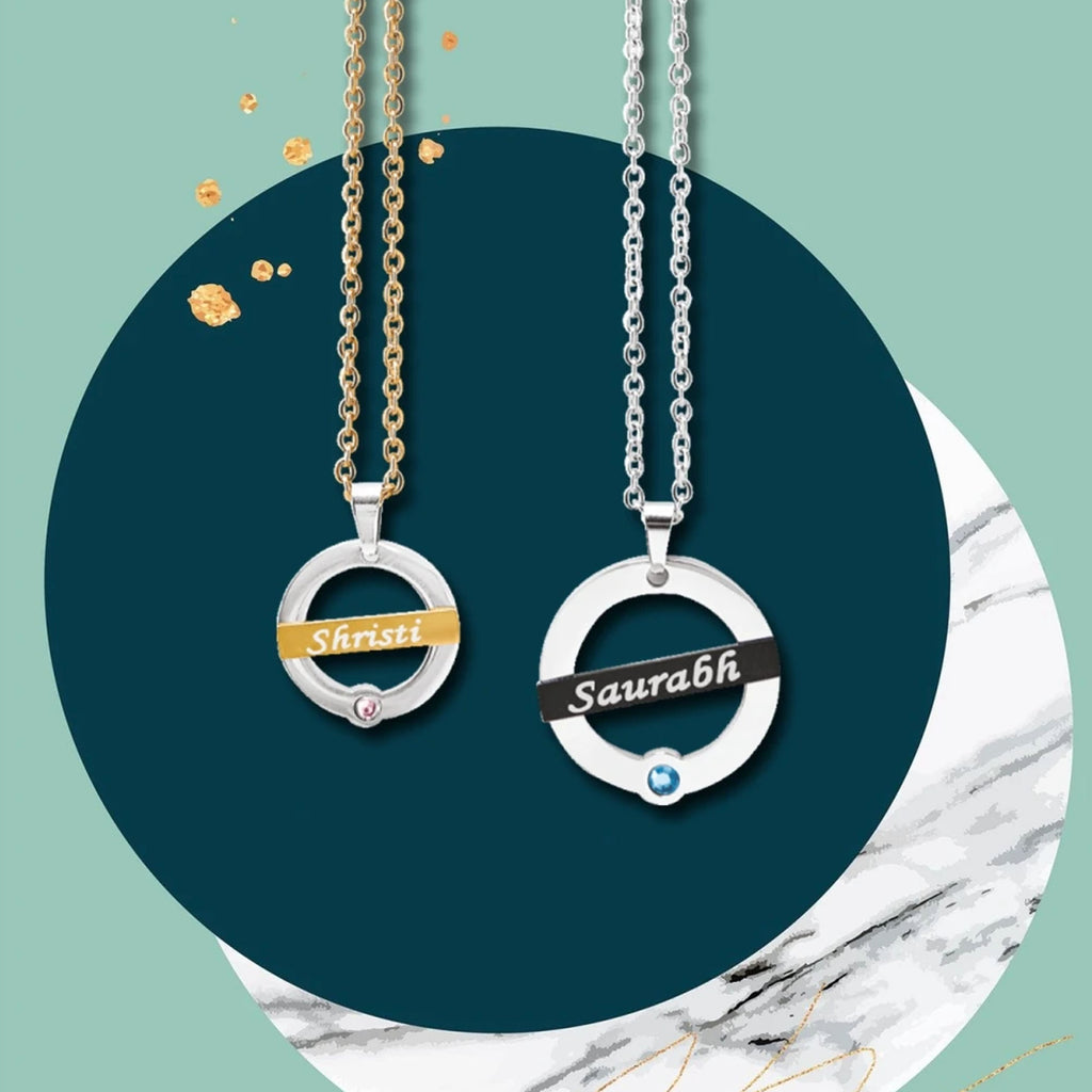 Couple Name Chains | Couples Necklaces & Love Jewelry - Zestpics