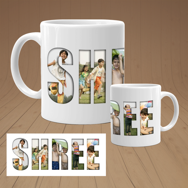 Buy & Send Personalized Name Photo Collage Mug online, India|Zestpics