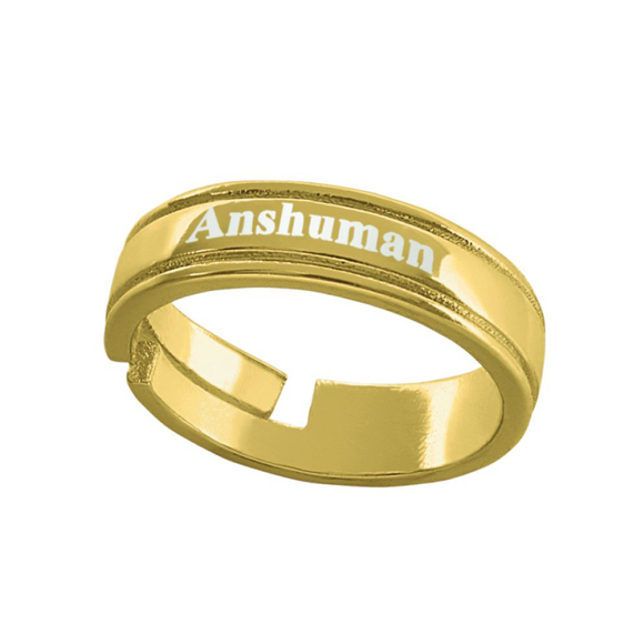 Buy & Send Personalized Name Rings | Name Engraved Gent's Finger Ring online in India | Zestpics