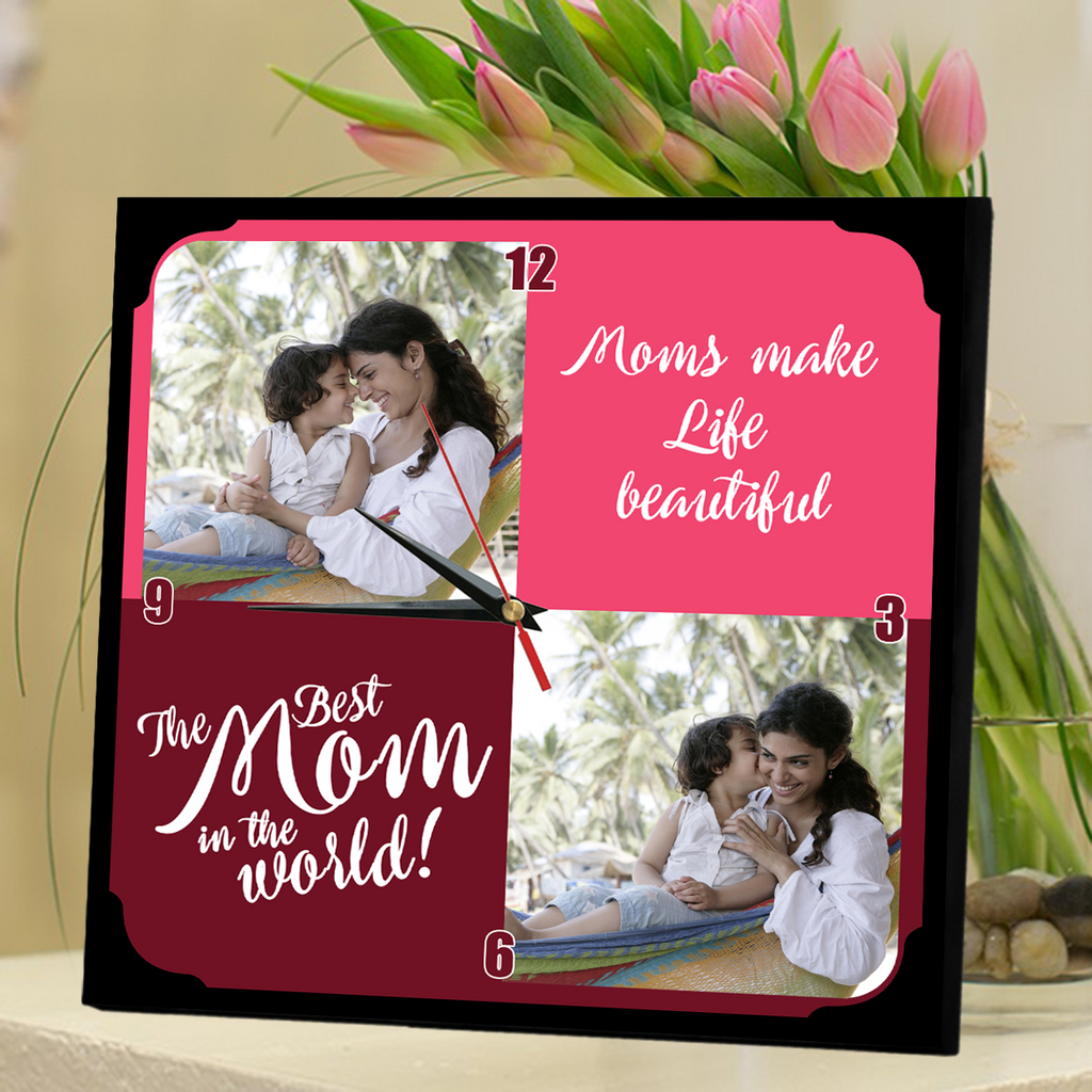 Buy Personalized Clock for Mom | Custom Mom Clock | Gifts for Mom online