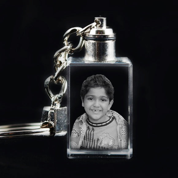 Buy Personalized Photo Rectangle 2D Crystal Keychain online at Zestpics, India