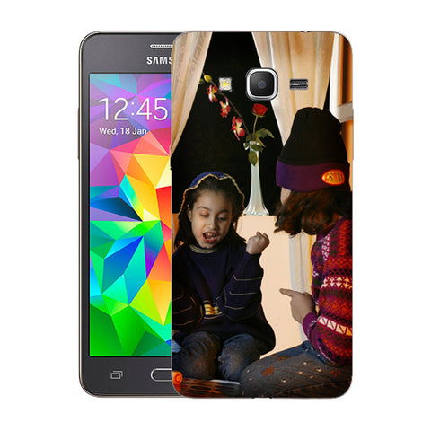 Buy Personalized Samsung Grand Prime Mobile Back Covers/Cases. Design your own Customized Mobile Case for Samsung Grand Prime with your own Photos, Text online & Make it Unique. Customize Now! Buy Custom Printed Personalized Mobile Covers/ Skins in India at Zestpics. Mobile Skins, Customized Mobile Phone Skins online in India.