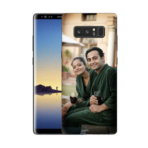 Buy Personalized Samsung Note 8 Mobile Back Covers/Cases. Design your own Customized Mobile Case for Samsung Note 8 with your own Photos, Text online & Make it Unique. Customize Now! Buy Custom Printed Personalized Mobile Covers/ Skins in India at Zestpics. Mobile Skins, Customized Mobile Phone Skins online in India.