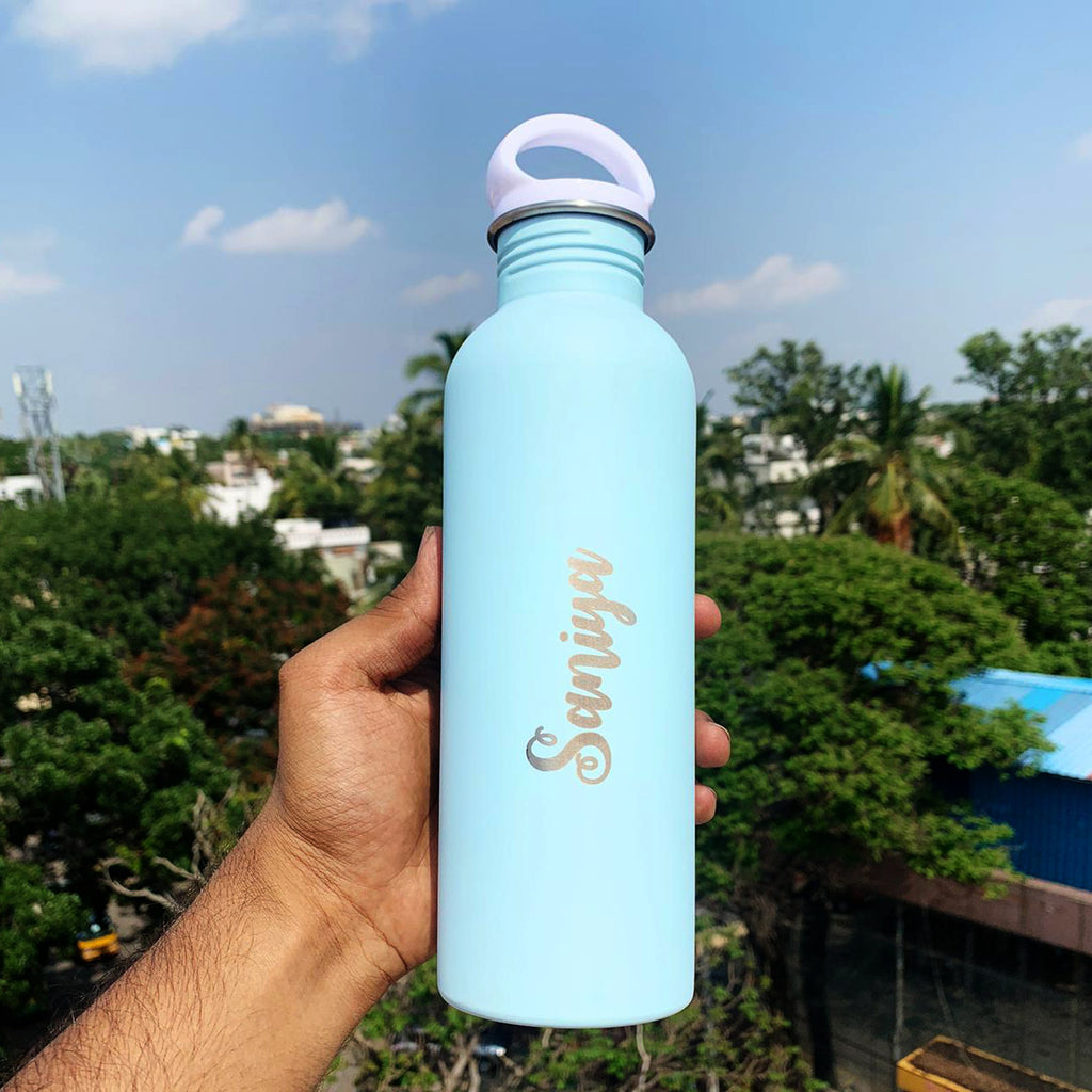 Customized Sippers | Personalised Pastel Blue Sipper Online | Zestpics