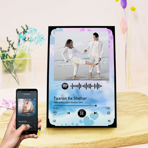 Buy Custom Spotify Frame, Spotify Photo Frame, Spotify Code Frame