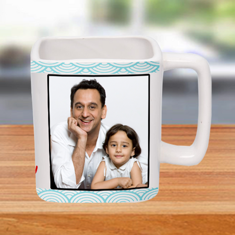 Buy Personalized Square Photo Mugs, Different Shape Mugs online at Zestpics