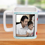 Are you getting bored with Cylindrical Mugs ? For the First Time, we are Introducing Personalized Square Photo Mugs