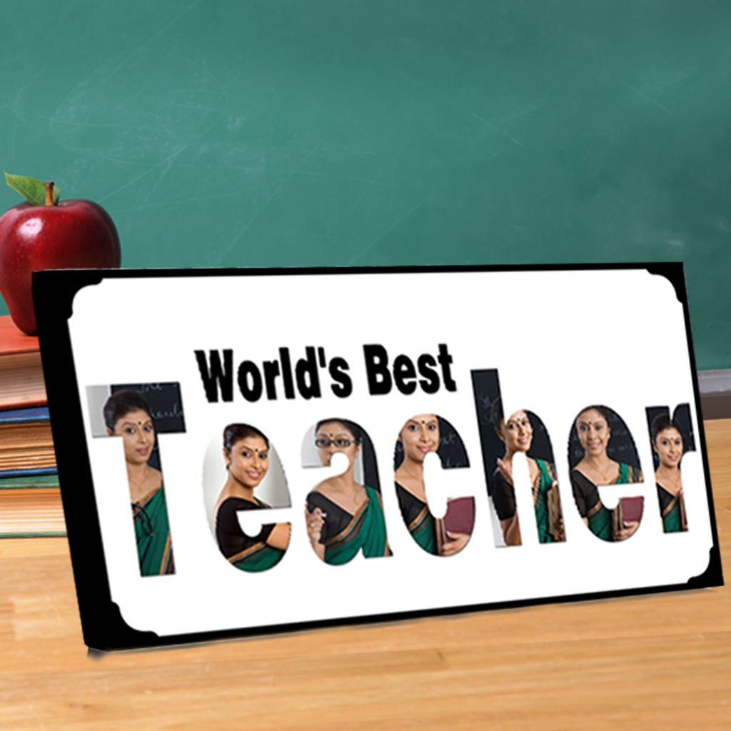 World's Best Teacher Photo Frame, Gifts for Teachers, Best Gifts for Teachers-Zestpics-Hyderabad, India