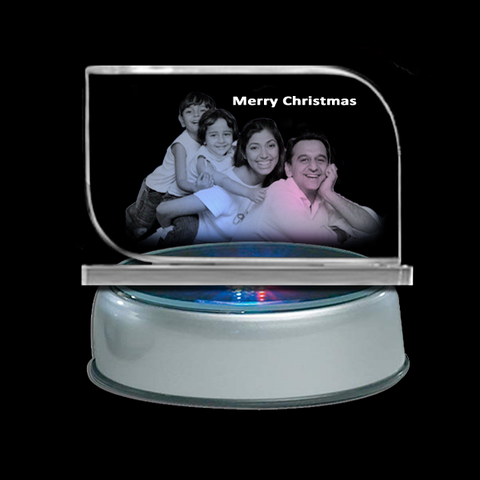 "Personalized Christmas Gifts. Turn your ""Precious Memories"" into the most stunning keepsakes. We will use a laser machine to engrave your photos inside the crystal, it's an amazing process. Send Personalized Photo Crystal Gifts to Hyderabad, India. Free Shipping. Happy Family Photo Crystals with LED Light. Photos on Glass. 2D Cube Images. Glass Engraving."
