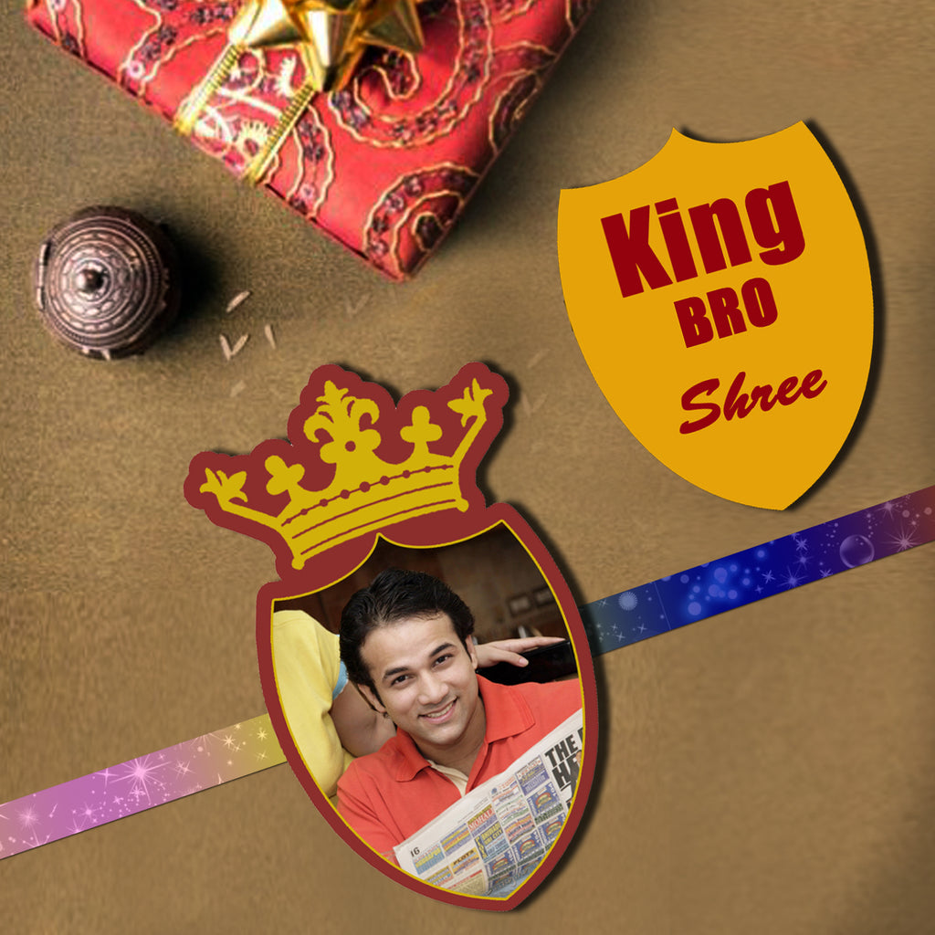 Buy Customized Photo Printed Rakhi Online | Send Photo Rakhi to Brother | King Bro Rakhi