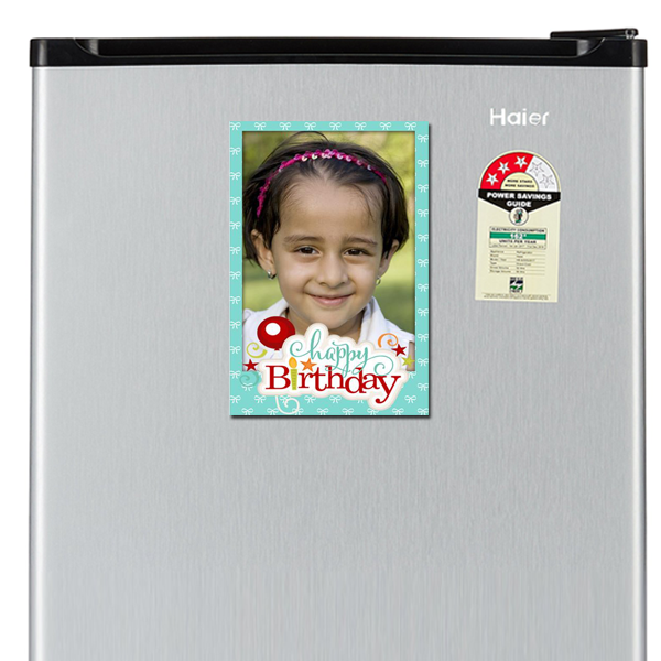 Personalised Gifts are the new way to express your warmest wishes on birthdays. Design and order it online with Zestpics and send it directly to India. Personalized Birthday Photo Magnets with Photo, Name & Text.