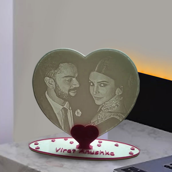 Buy Lithophane Heart Stand, Surprise Anniversary Gifts Online|Zestpics
