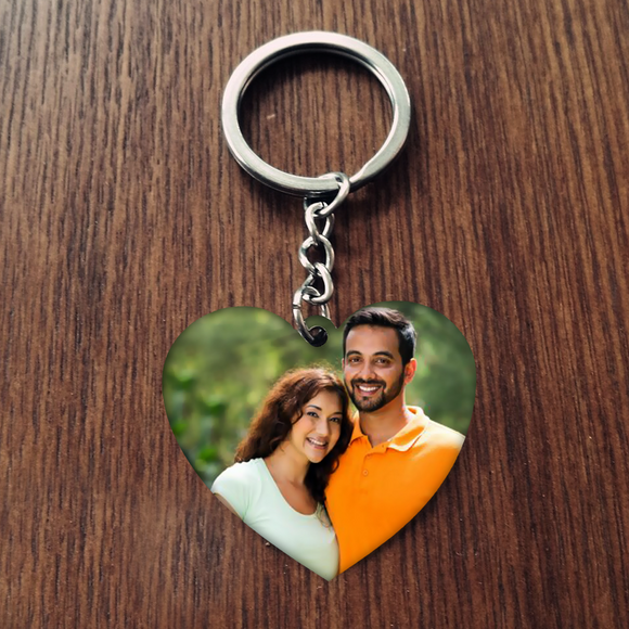 Photo Heart Keychain, Personalized Keychains, Custom Keychains  Online, Valentine' Day Gifts, Zestpics, Hyderabad, India