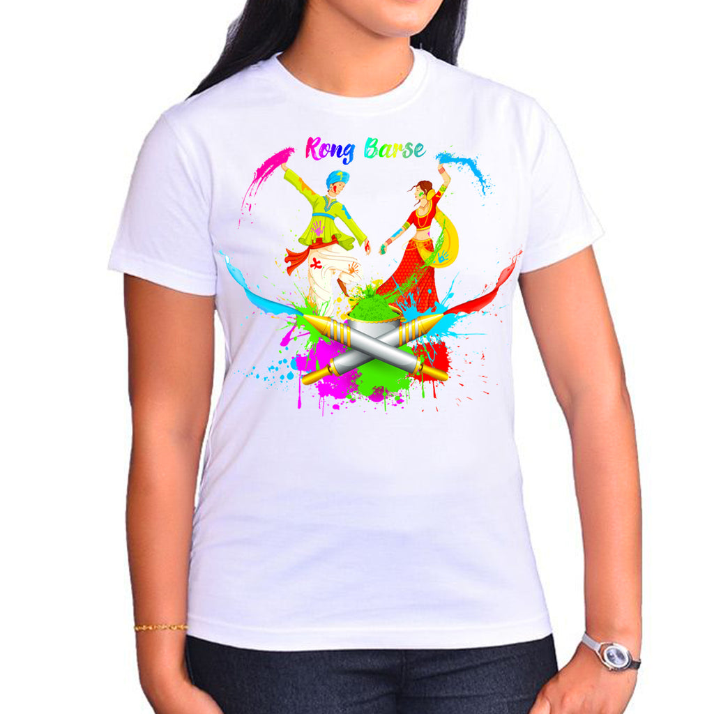 Holi T Shirt Painting - Buy Holi T Shirts online in India at Zestpics