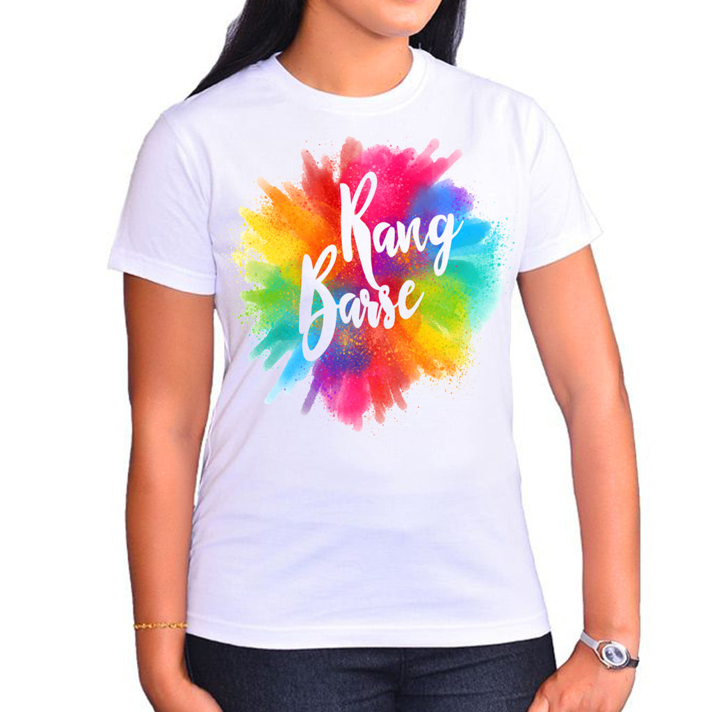 Rang Barse Holi TShirts - Buy Holi TShirts online in India at Zestpics