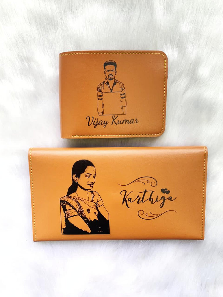 Personalised Men & Women Wallet Combo - Zestpics