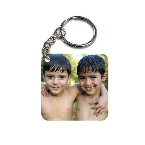 Square Photo Keychain, Printed Keychain, Wooden Keychain, Photo Keychain | Zestpics