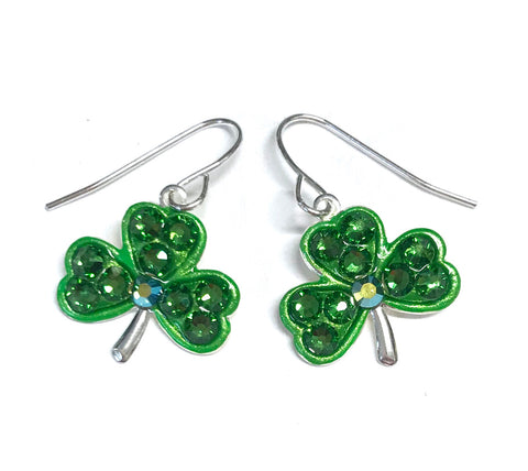 Shamrock Earrings - St Patrick's Day Jewelry