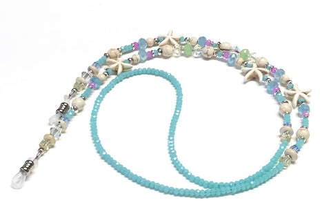 Starfish Eyeglass Chain or Holder - Pastel Beaded