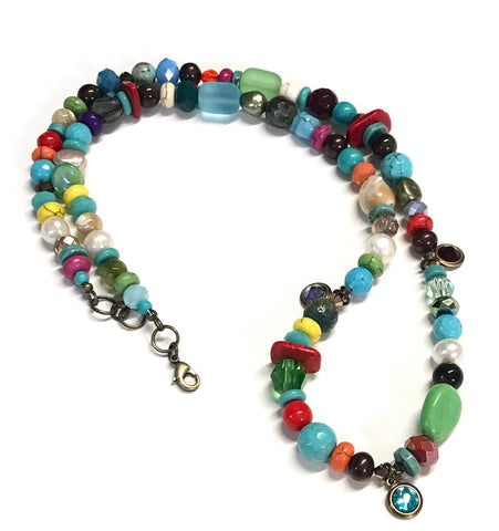 Boho Beach Necklace - Whimsical and Colorful #1