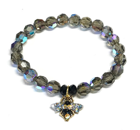 Bee Bracelet Stretch Elastic Crystal