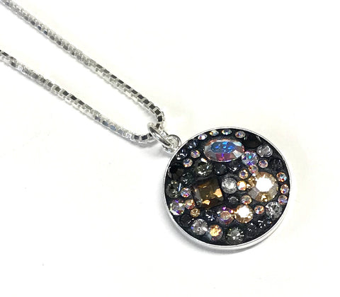 Eclectic Crystal Pendant - Sterling Silver - Box Chain