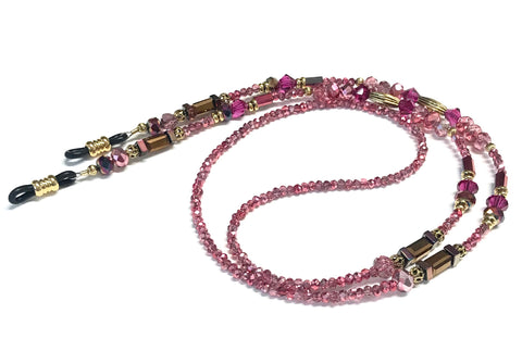 Eyeglass Chain or Holder - Metallic Pink