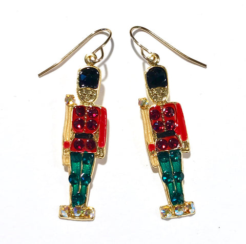 Toy Soldier Earrings - Christmas Earrings - Holiday Jewelry