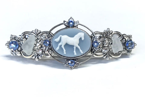 Horse Cameo Hair Barrette