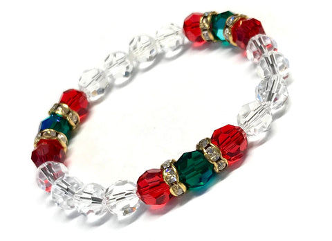 Christmas Bracelet - Holiday Bracelet - Crystal Holiday Jewelry